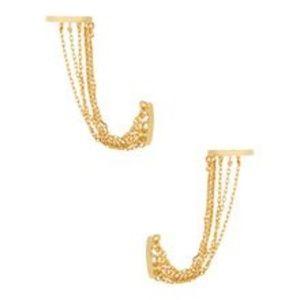 NWT nOir Jewelry Wonderfall Ear Cuff Earrings